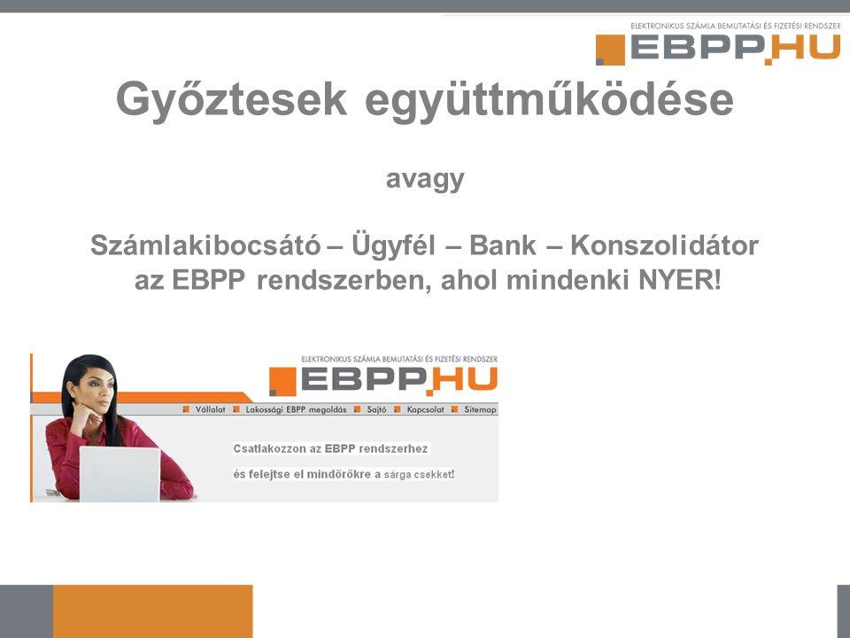 Győztesek együttműködése avagy Számlakibocsátó – Ügyfél – Bank – Konszolidátor az EBPP rendszerben, ahol mindenki NYER!
