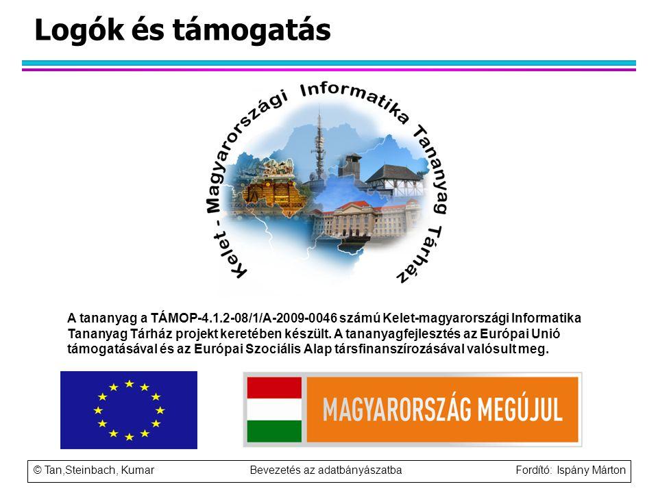 Logók és támogatás A tananyag a TÁMOP-4.1.2-08/1/A-2009-0046 számú Kelet-magyarországi Informatika Tananyag Tárház projekt keretében készült. A tanany