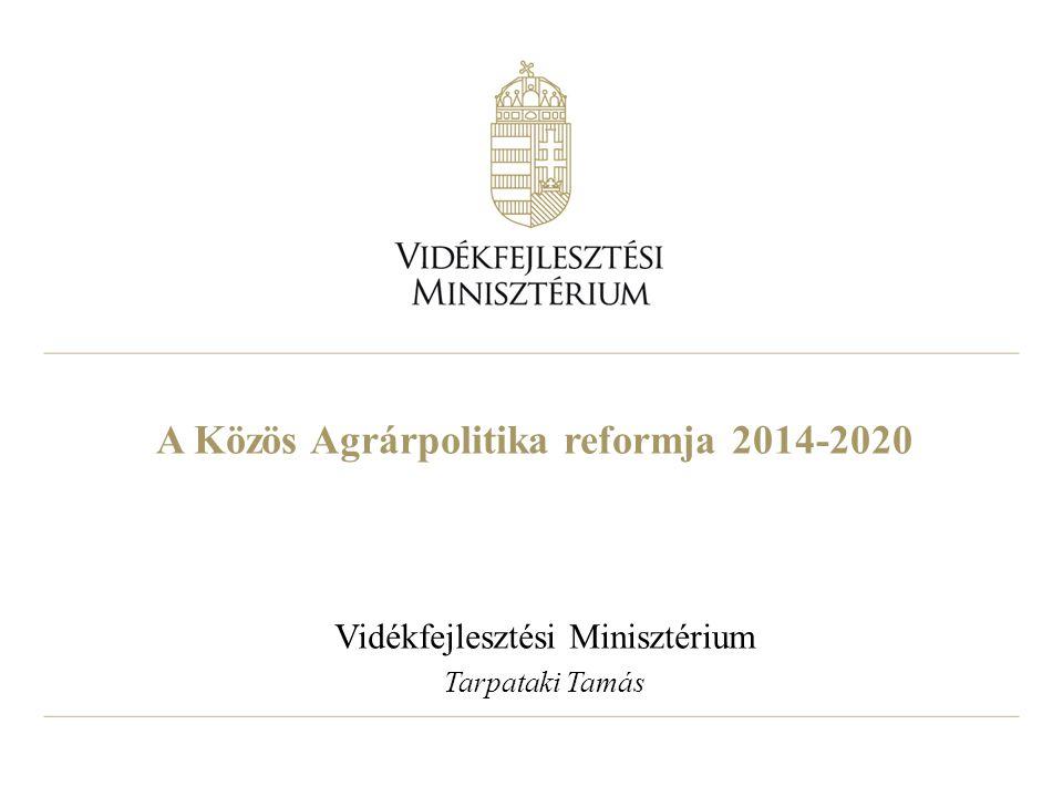 2 A Közös Agrárpolitika költségvetése 2014-2020 2013 február 7-8 európai tanácsi döntés a Többéves Pénzügyi Keretről (MFF) A KAP költségvetése 373,179 milliárd euró lesz, ebből az első pillér 277,851 milliárd euróval, a második pillére 84,94 milliárd euróval részesedik A költségvetésről szóló végeleges - a Tanács valamint az Európai Parlament közötti - megállapodás várhatón 2013 őszén fog megszületni
