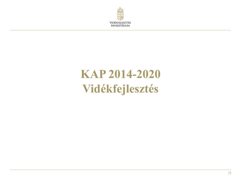 28 KAP 2014-2020 Vidékfejlesztés