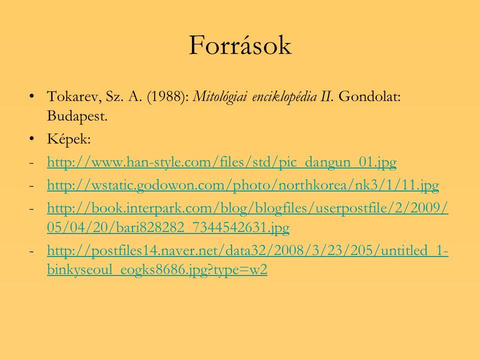 Források Tokarev, Sz. A. (1988): Mitológiai enciklopédia II.