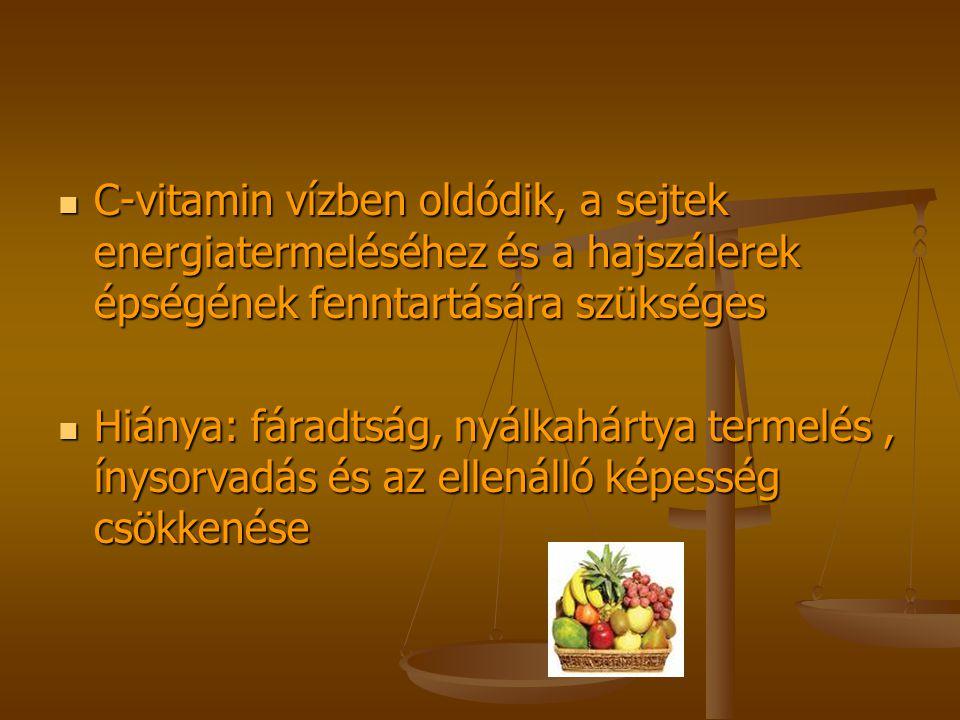 C-vitamin vízben oldódik, a sejtek energiatermeléséhez és a hajszálerek épségének fenntartására szükséges C-vitamin vízben oldódik, a sejtek energiate