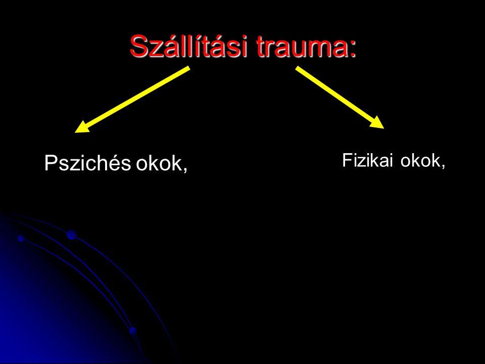 Szállítási trauma: Pszichés okok, Fizikai okok,