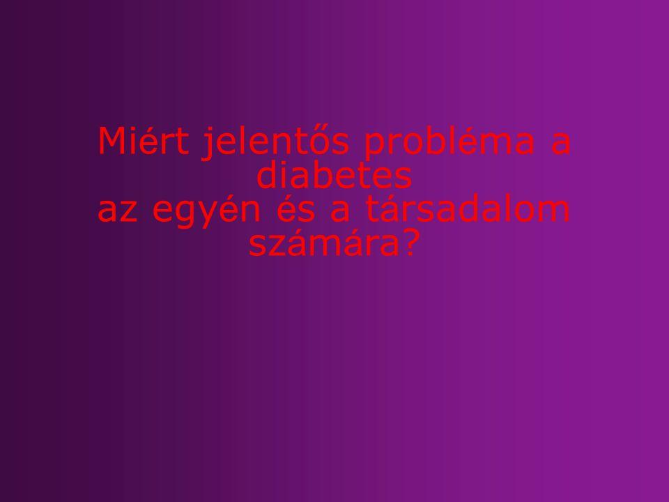 Mi é rt jelentős probl é ma a diabetes az egy é n é s a t á rsadalom sz á m á ra?