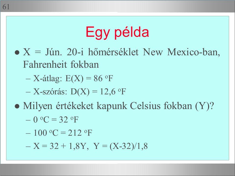 61 Egy példa l X = Jún.