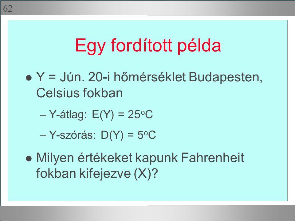 62 Egy fordított példa l Y = Jún.