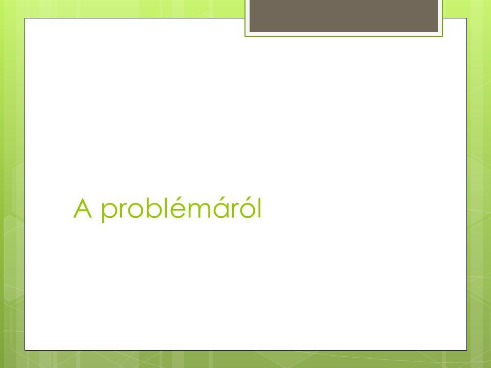 A problémáról