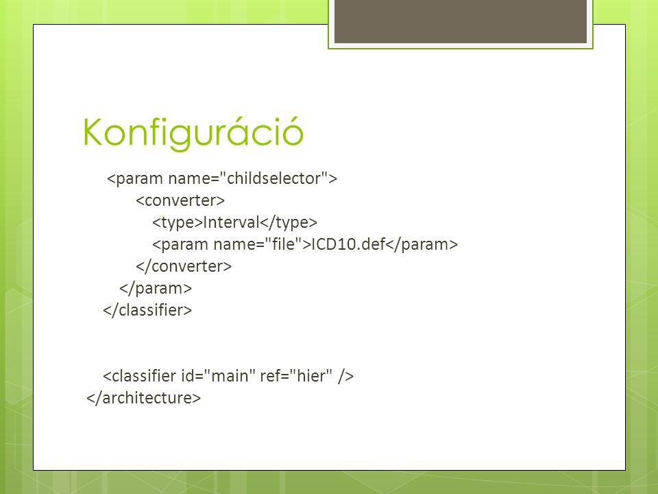 Konfiguráció Interval ICD10.def