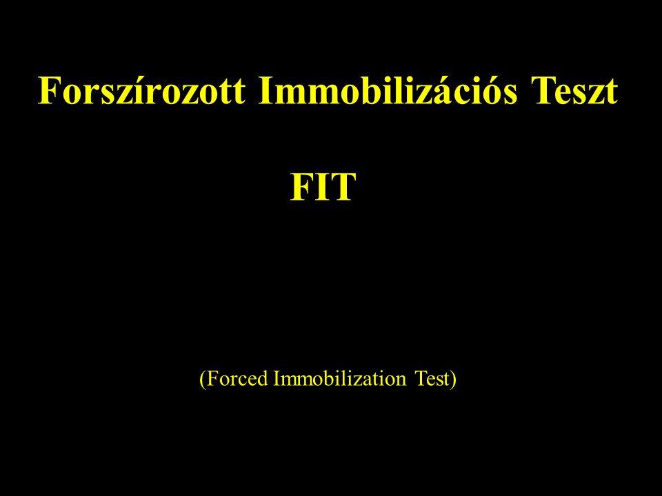 Forszírozott Immobilizációs Teszt FIT (Forced Immobilization Test)