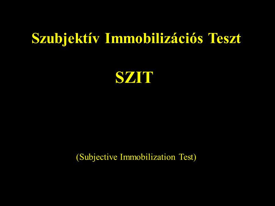 Szubjektív Immobilizációs Teszt SZIT (Subjective Immobilization Test)