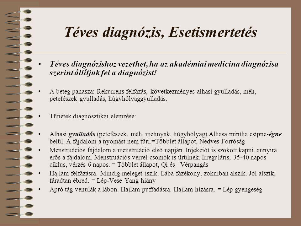 Téves diagnózis, Esetismertetés Téves diagnózishoz vezethet, ha az akadémiai medicina diagnózisa szerint állítjuk fel a diagnózist! A beteg panasza: R
