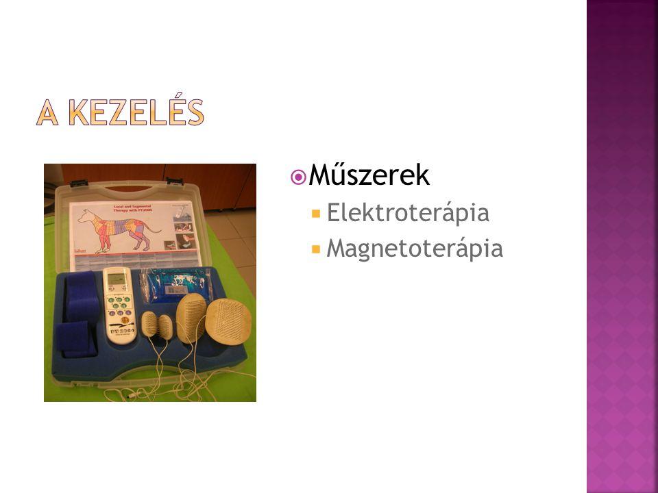  Műszerek  Elektroterápia  Magnetoterápia
