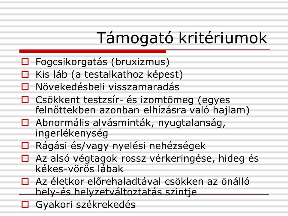 Rett-szindróma klinikai lefolyásának szakaszai I.stádium (preregresszió - néhány hónap)  Korai kezdet: 6.