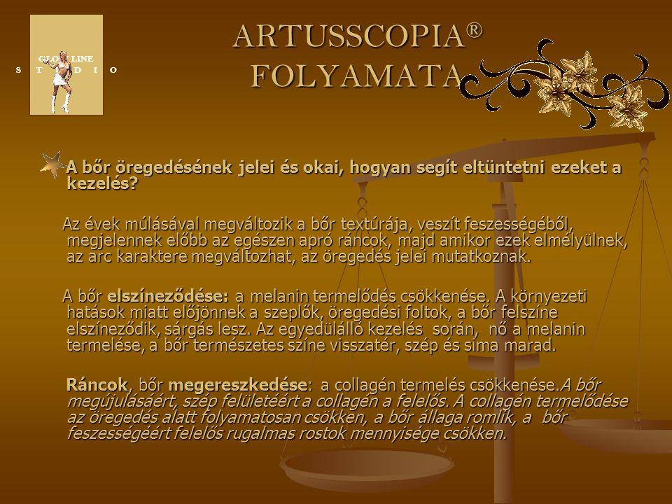 ARTUSSCOPIA ® FOLYAMATA A bőr öregedésének jelei és okai, hogyan segít eltüntetni ezeket a kezelés? Az évek múlásával megváltozik a bőr textúrája, ves