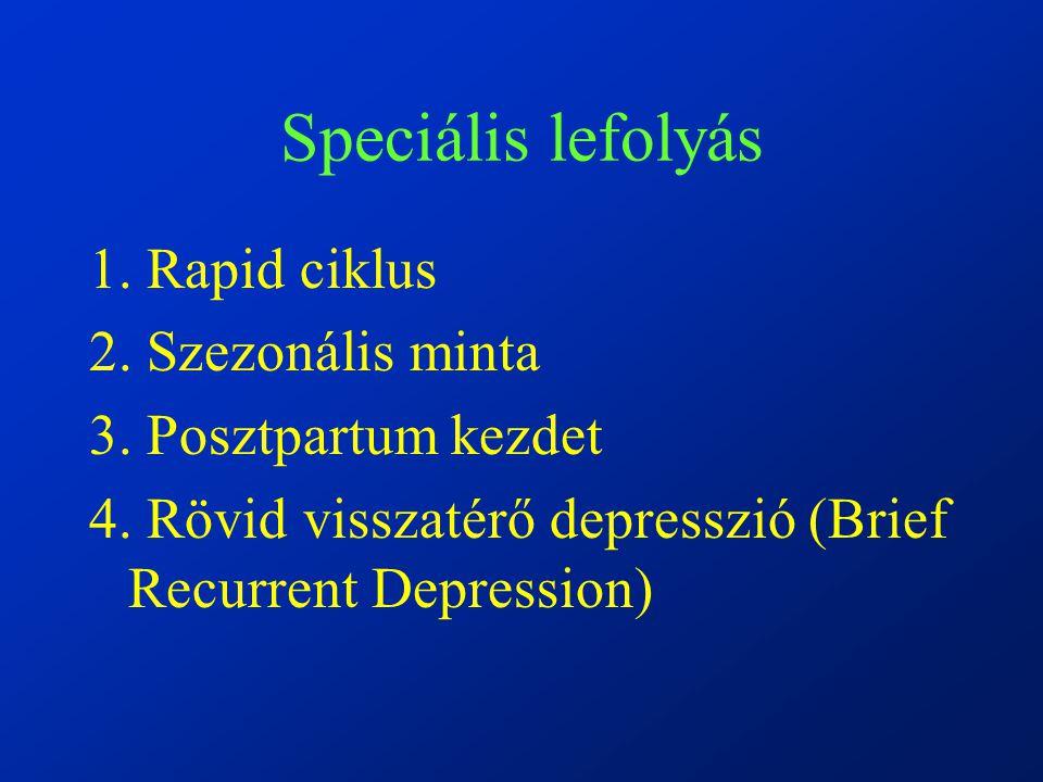 Speciális lefolyás 1.Rapid ciklus 2. Szezonális minta 3.