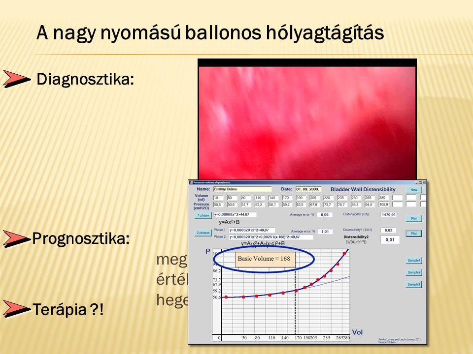  Diagnosztika:A standardizált nagy nyomással a beteg nyh. területek sokkal jobban megjeleníthetők  Prognosztika: A térfogat-nyomás meghatározás prog