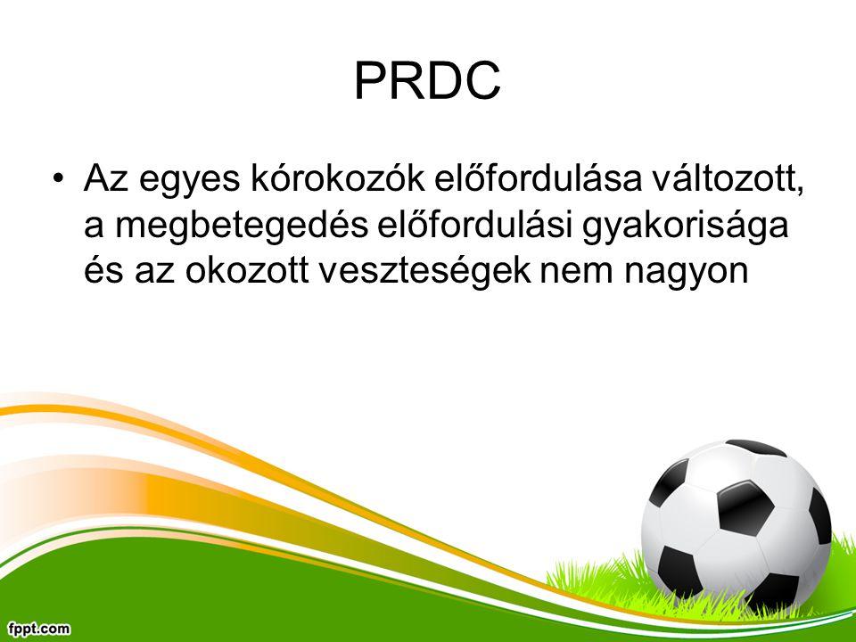PRDC Az egyes kórokozók előfordulása változott, a megbetegedés előfordulási gyakorisága és az okozott veszteségek nem nagyon
