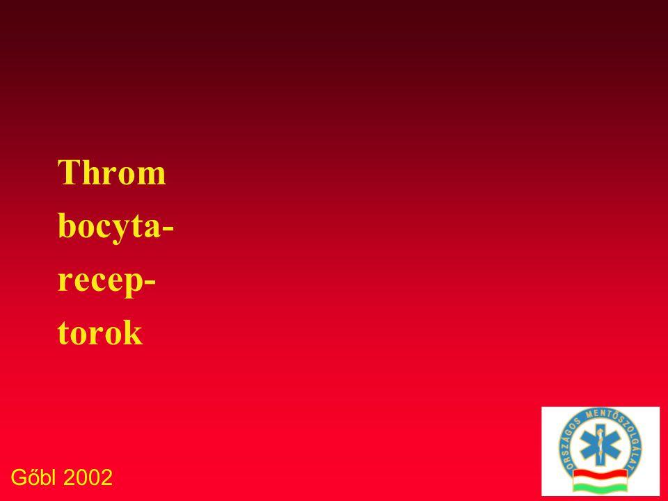 Throm bocyta- recep- torok