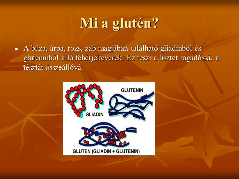 Mi a glutén? A búza, árpa, rozs, zab magjában található gliadinból és gluteninből álló fehérjekeverék. Ez teszi a lisztet ragadóssá, a tésztát összeál