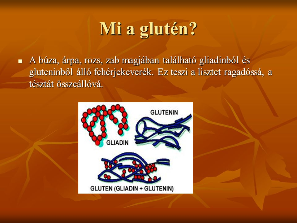 Mi a gliadin.A gabonafehérje gluténfrakciójának alkohololdékony komponensei.