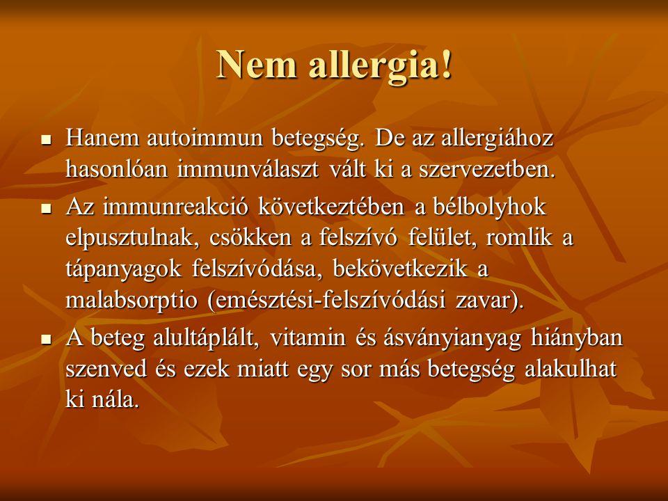 Nem allergia! Hanem autoimmun betegség. De az allergiához hasonlóan immunválaszt vált ki a szervezetben. Hanem autoimmun betegség. De az allergiához h