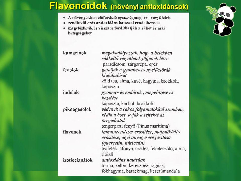 Flavonoidok (növényi antioxidánsok)
