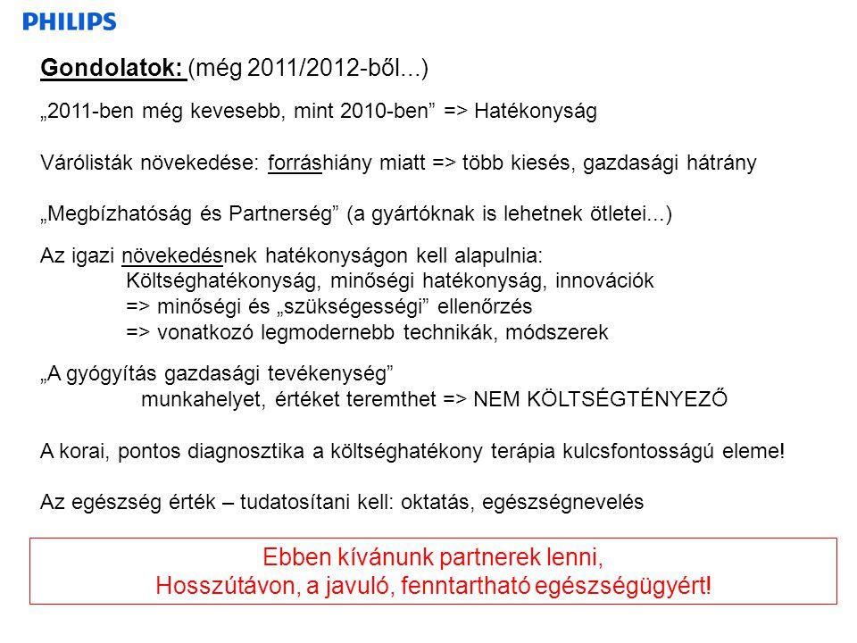 """Gondolatok: (még 2011/2012-ből...) """"2011-ben még kevesebb, mint 2010-ben"""" => Hatékonyság Várólisták növekedése: forráshiány miatt => több kiesés, gazd"""