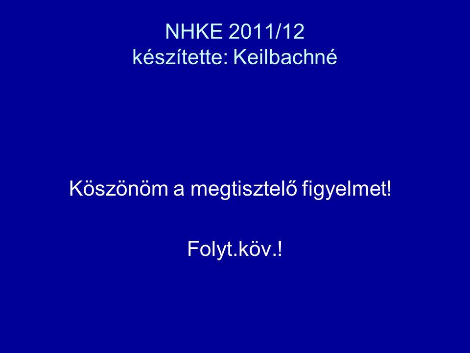 NHKE 2011/12 készítette: Keilbachné Köszönöm a megtisztelő figyelmet! Folyt.köv.!