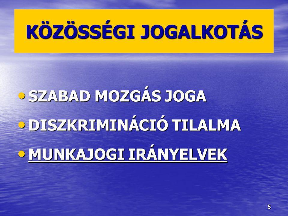 26 3.HÁROMOLDALÚ KAPCSOLATOK Munkaerő-kölcsönzés Munkaerő-kölcsönzés Megkülönböztetés tilalma?.