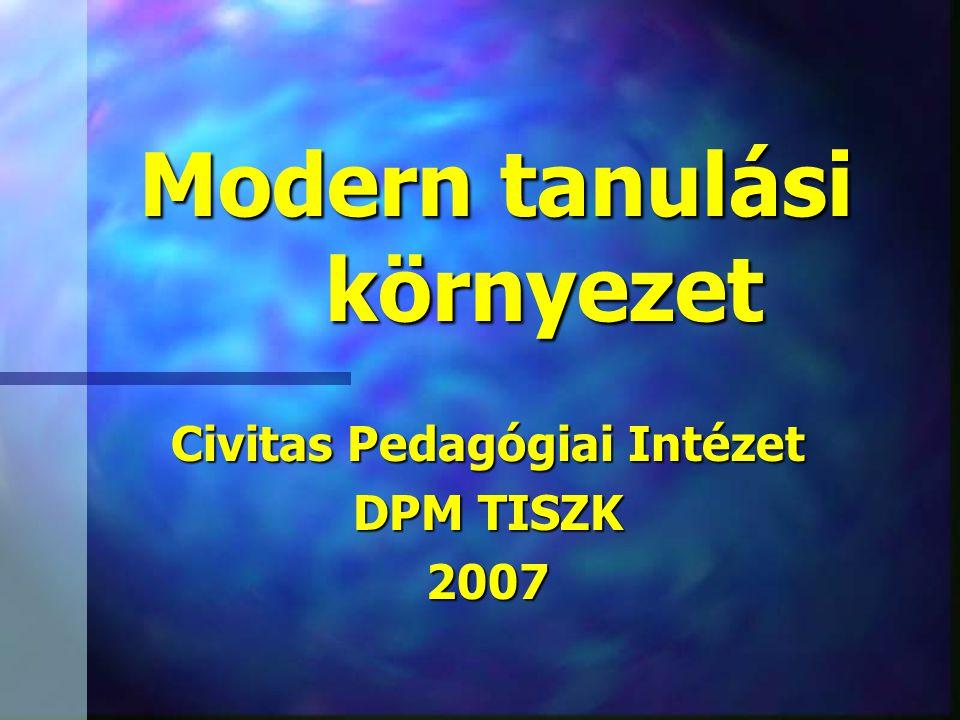 Modern tanulási környezet Civitas Pedagógiai Intézet DPM TISZK 2007