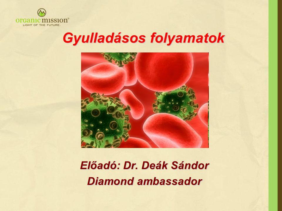 Gyulladásos folyamatok Előadó: Dr. Deák Sándor Diamond ambassador