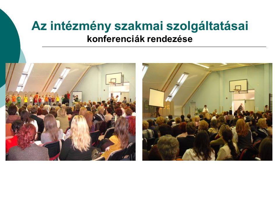 Az intézmény szakmai szolgáltatásai konferenciák rendezése