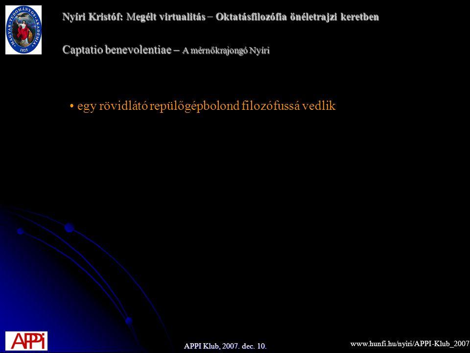 APPI Klub, 2007. dec. 10.