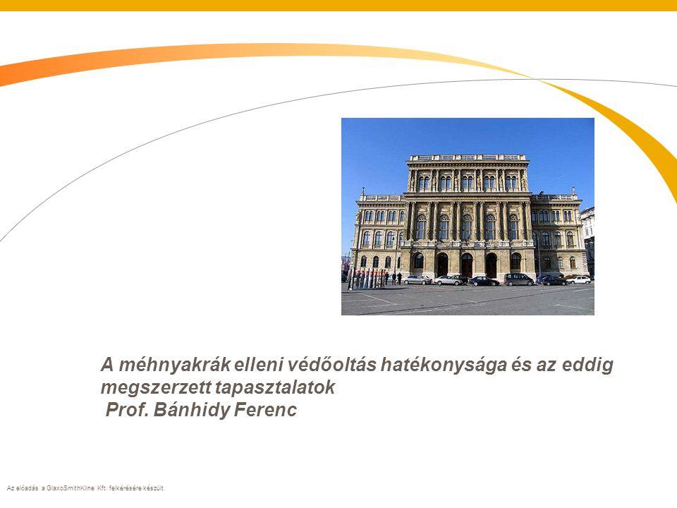 Az előadás a GlaxoSmithKline Kft.felkérésére készült.
