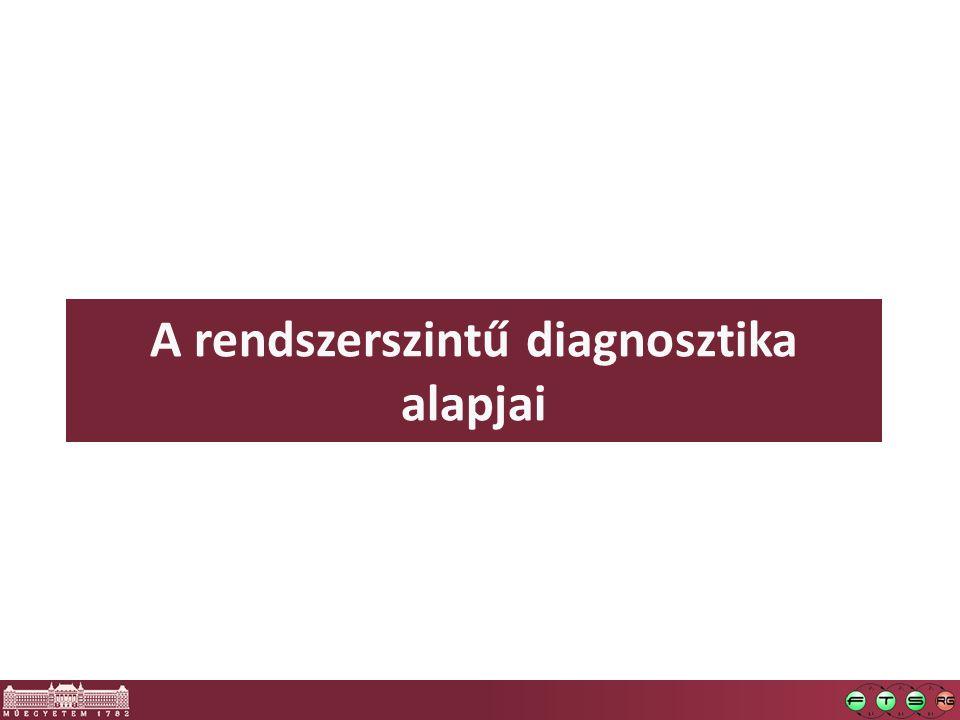 Alapfogalmak  Diagnosztika: több jelentés, ált.