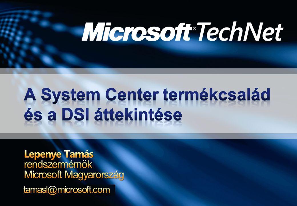 A Microsoft rendszermenedzsment víziója A Dynamic Systems Initiative A System Definition Model Az üzemeltetésre tervezett szoftverek A SDM jelentősége