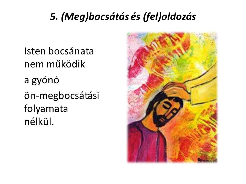 5. (Meg)bocsátás és (fel)oldozás Isten bocsánata nem működik a gyónó ön-megbocsátási folyamata nélkül.