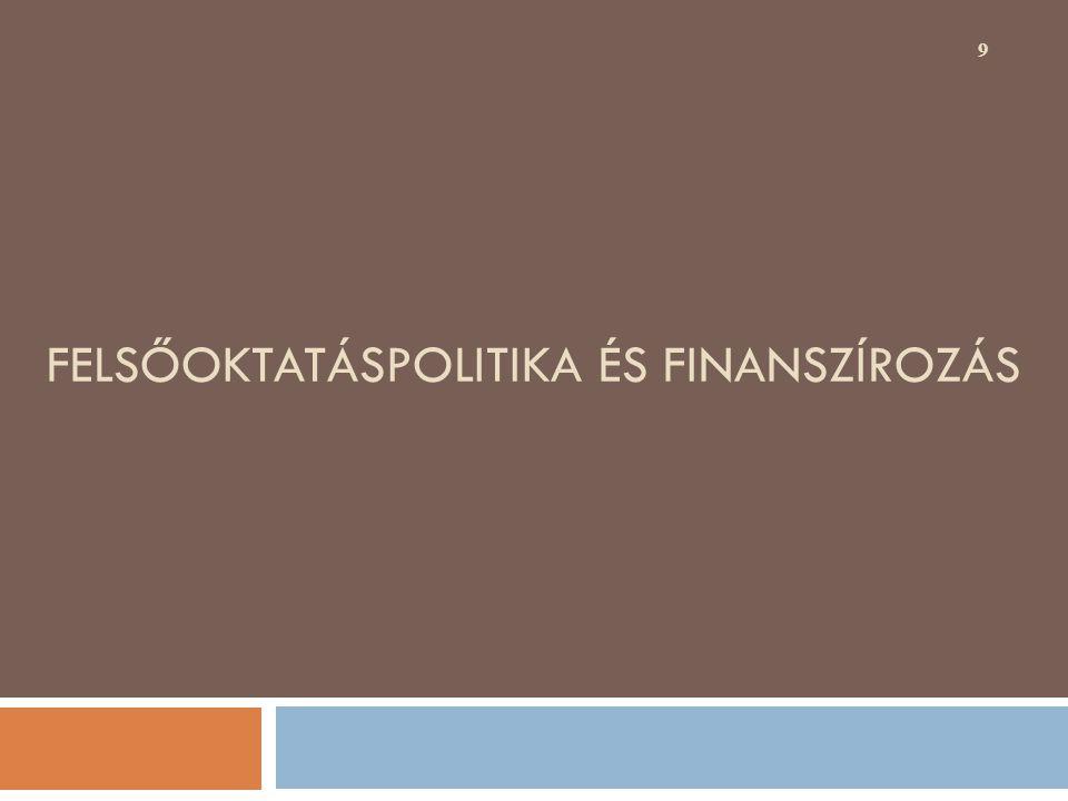 FELSŐOKTATÁSPOLITIKA ÉS FINANSZÍROZÁS 9