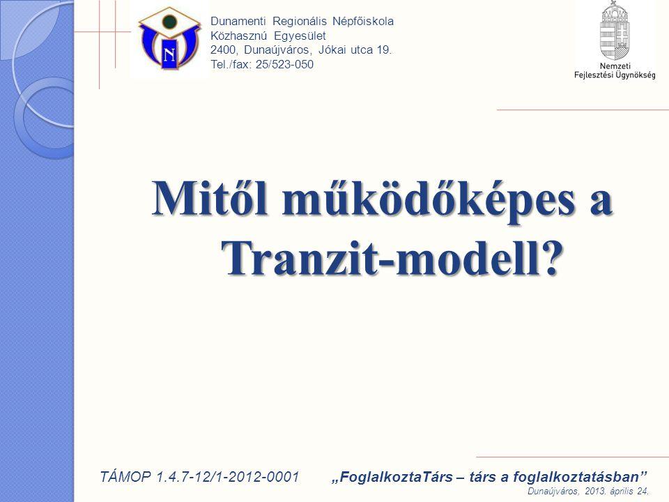 Mitől működőképes a Tranzit-modell.