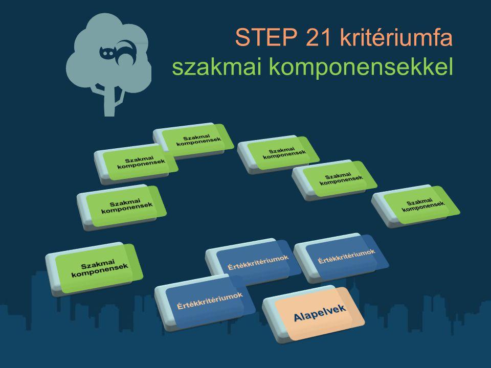 STEP 21 kritériumfa szakmai komponensekkel