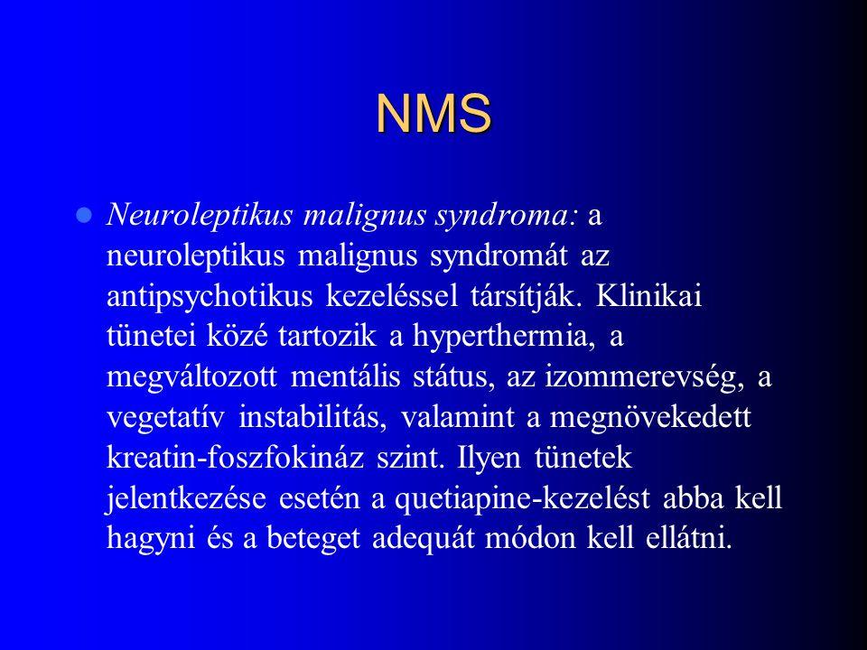 Seroquel, risperidon, olanzapin és clozapin kezelés melletti testsúlyváltozás összehasonlítása quetiapin 9-13 hét Westhead, Jones Internat. Jour. Neur