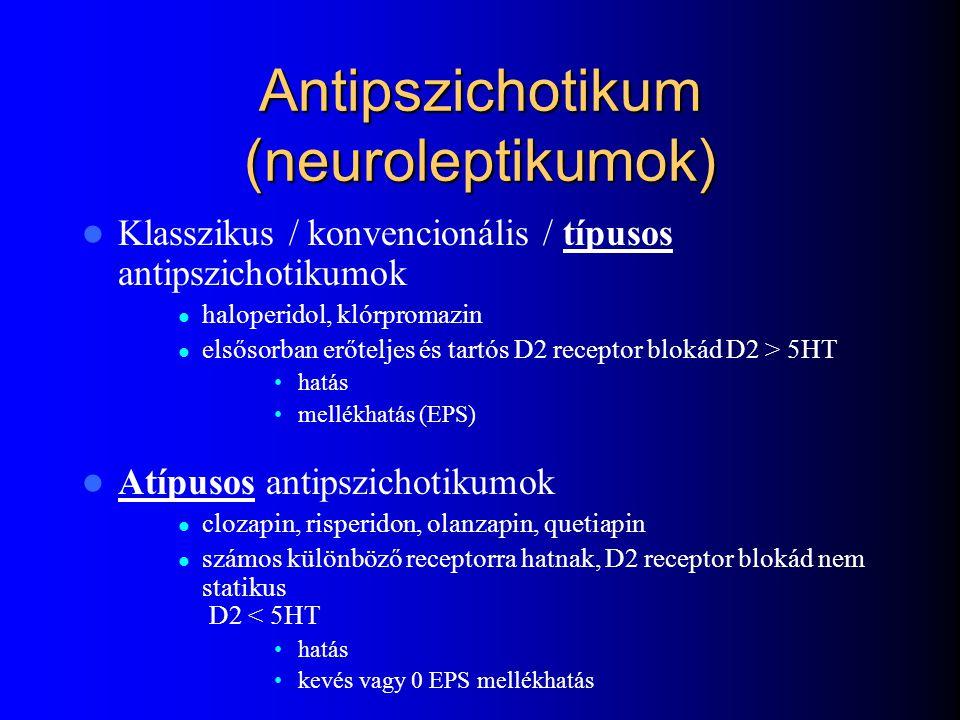 Antipszichotikumok osztályozása