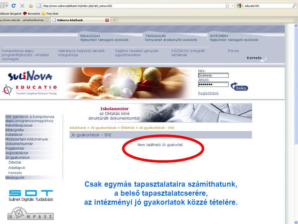 """Honnan vehetünk mintát.Kitől kérjünk segítséget. """"www.sulinovadat.hu Jó, megnézzük."""