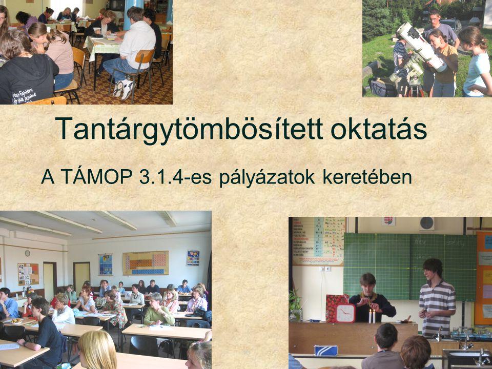 Tantárgytömbösített oktatás A TÁMOP 3.1.4-es pályázatok keretében 36