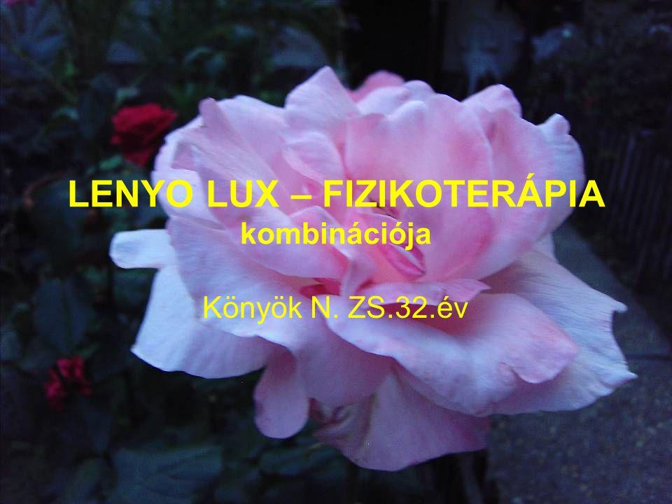 LENYO LUX – FIZIKOTERÁPIA kombinációja Könyök N. ZS.32.év