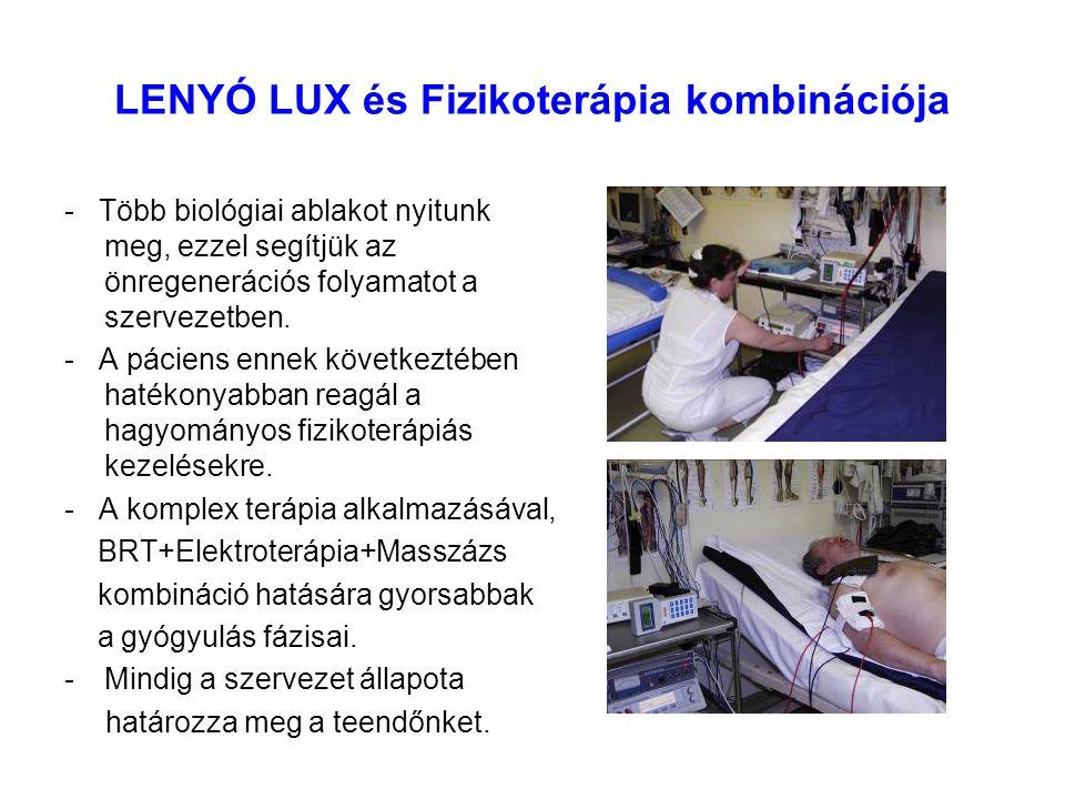 LENYÓ LUX és Fizikoterápia kombinációja - Több biológiai ablakot nyitunk meg, ezzel segítjük az önregenerációs folyamatot a szervezetben. - A páciens
