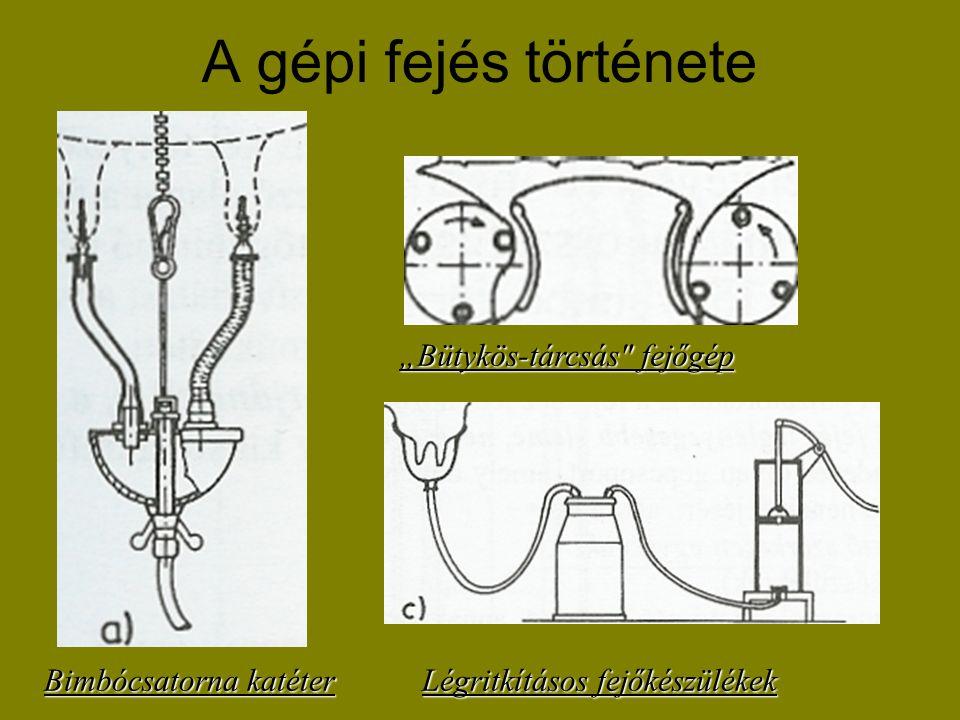 Hulbert és Marc (1902, Anglia): az első maihoz hasonló fejőgép szerkesztése.