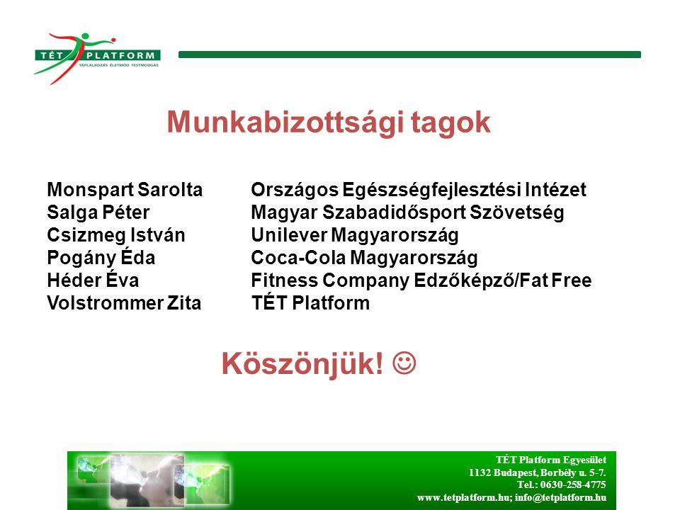 TÉT Platform Egyesület 1132 Budapest, Borbély u. 5-7. Tel.: 0630-258-4775 www.tetplatform.hu; info@tetplatform.hu Monspart SaroltaOrszágos Egészségfej