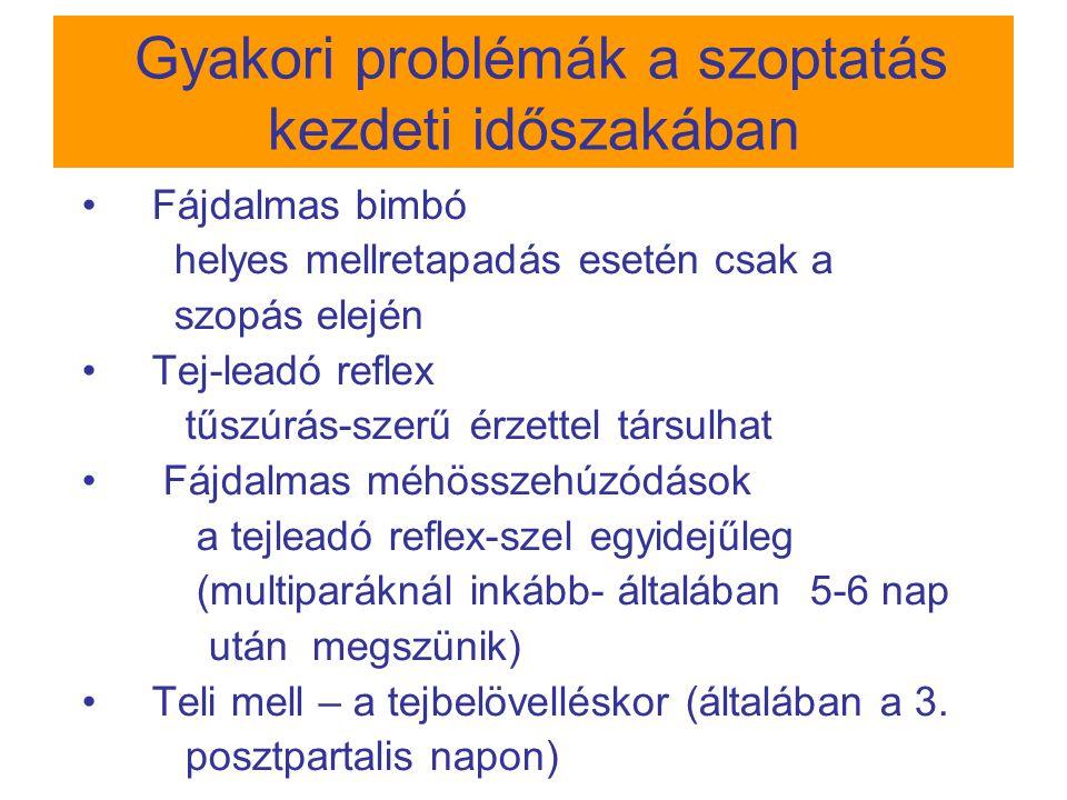 MASTITIS NEM FERTŐZÉSES OK: tejpangás Th: szoptatás +++ fejés gyengéd masszázs FERTŐZÉSES OK:tejpangás + infekció  Th: szoptatás + fejés antibiotikum 10-14napig TÜNETI KEZELÉS pihenés, ágynyugalom meleg alkalmazása rövid ideig a szoptatás előtt hideg alkalmazása a szoptatások között fájdalom-/ lázcsillapító (Ibuprofen, Paracetamol) TÁMOGATÓ TANÁCSADÁS  Leggyakrabban Staph.
