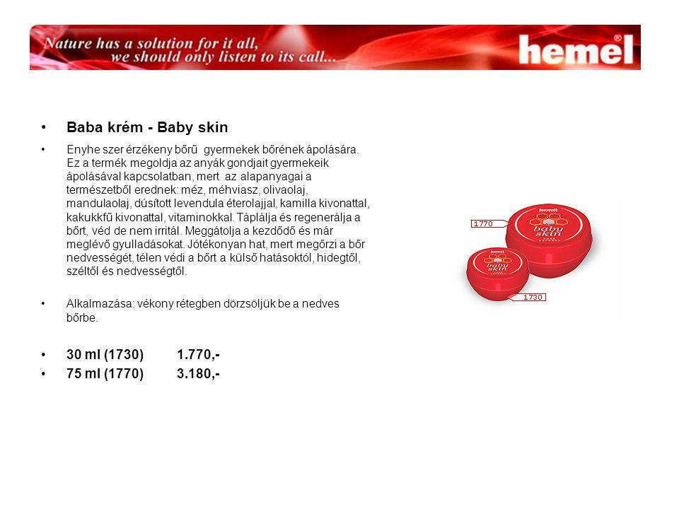 Baba krém - Baby skin Enyhe szer érzékeny bőrű gyermekek bőrének ápolására.